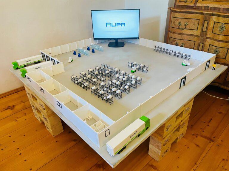 Model naší logistické haly